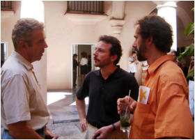 with Dietmar Geisendorff of the Goethe Institute and installation artist Jens J. Meyer in Havana (2003)